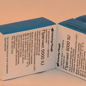 Pregnyl 5000i.u.Organon HCG