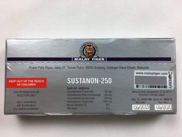 SUSTANON-250 tył opakowania
