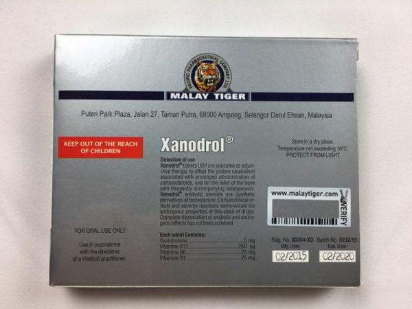 Xandrolone tył opakowanie
